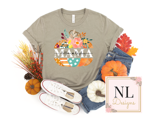 Fall Pumpkin Monogram