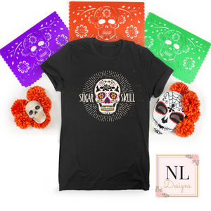 Sugar Skull Distressed