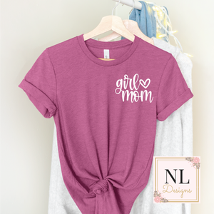 Girl Heart Mom Pocket