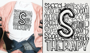 Speech Therapy Typography