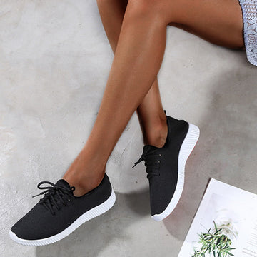 Female Casual Solid Black Shoes