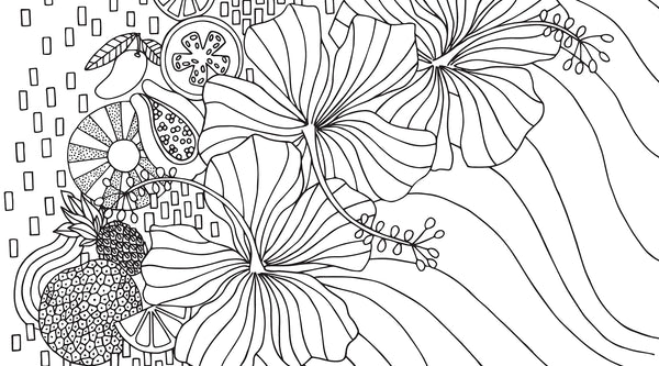 Jana Lam Hawaii Coloring Sheet
