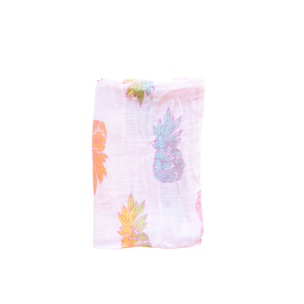 Swaddle Blanket • Seaflower Pineapple Sherbet • Coco Moon + Jana Lam