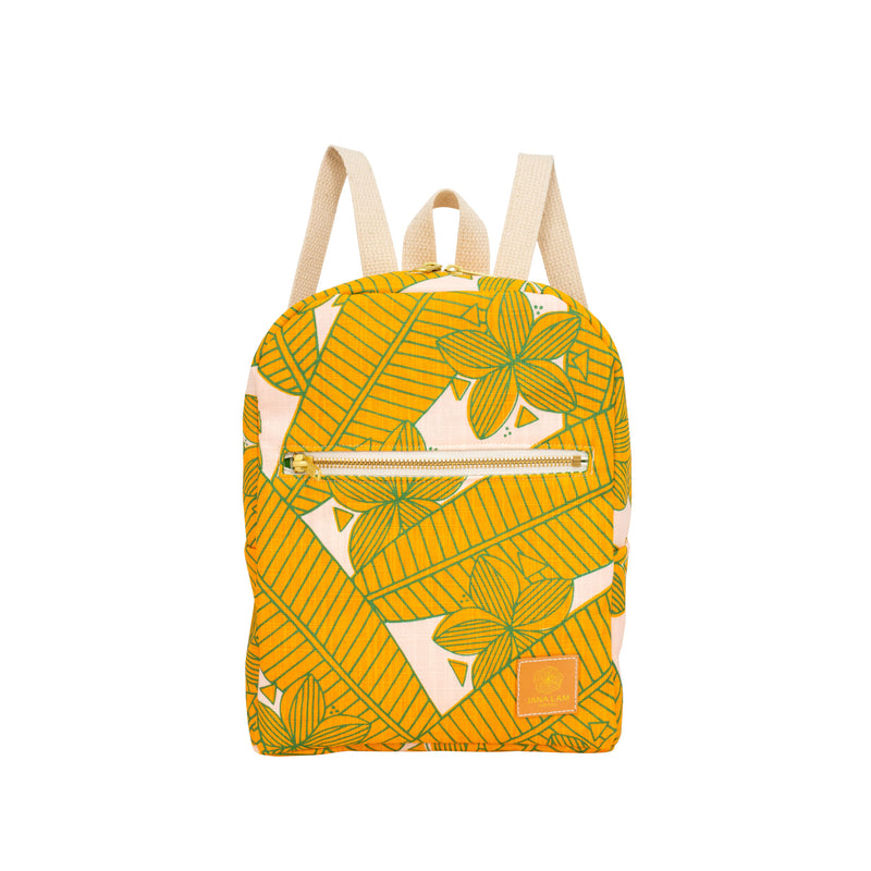 Mini Backpack • Plumeria • Golden Mango • Made-to-Order