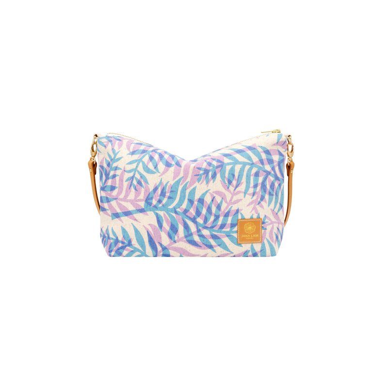 Mini Slouchy Cross Body • Double Palm • Blue over Lavender