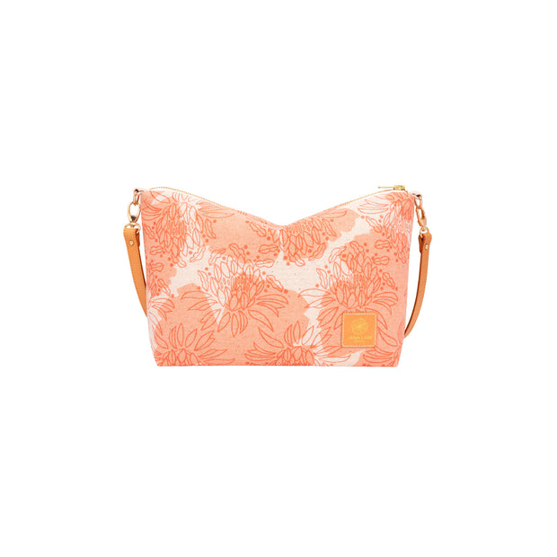 Mini Slouchy Cross Body • Night Blooming Cereus • Rust over Offset Peach 1
