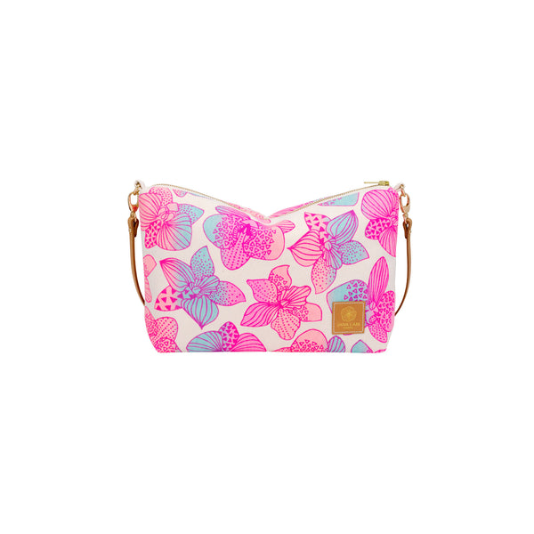 Mini Slouchy Cross Body • Orchid • Pink over Blue, Coral and Pink Ombre