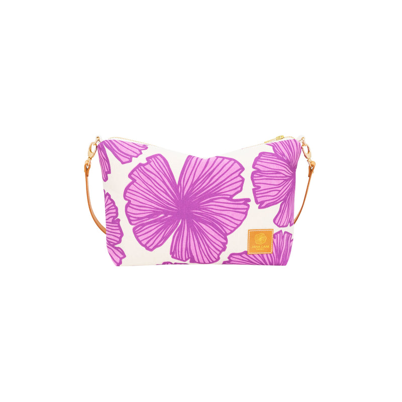 Mini Slouchy Cross Body • Seaflower • Purple over Fuchsia