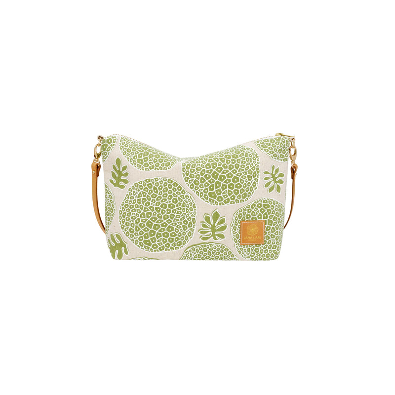 Mini Slouchy Cross Body • Ulu • White over Moss Green
