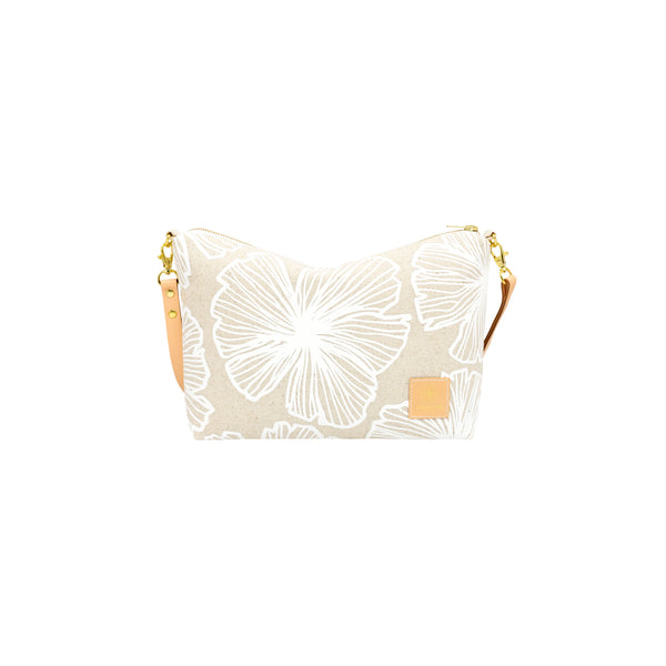 Mini Slouchy Cross Body • Seaflower • White Collection