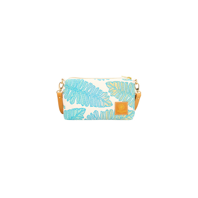 Mini Slim Zipper Cross Body • Native 'Ae • Blue over Ocean and Sand Ombre