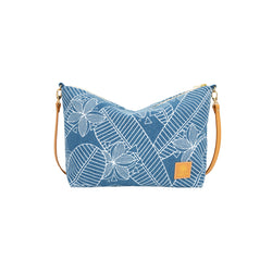 Slouchy Cross Body • Plumeria • Denim Collection