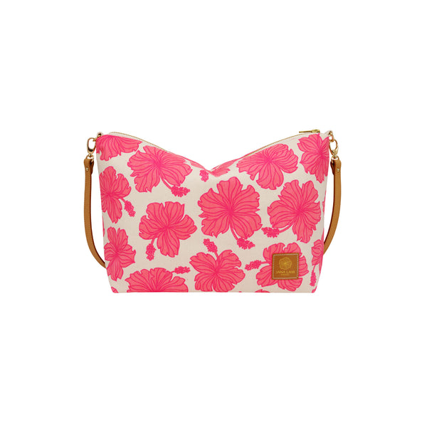 Slouchy Cross Body • Hibiscus • Hot Pink over Pink