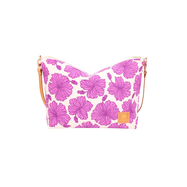 Slouchy Cross Body • Hibiscus • Purple over Fuchsia