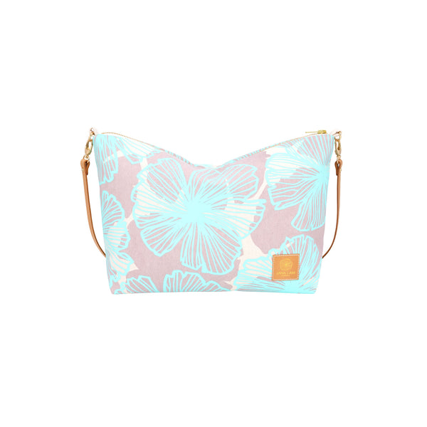 Slouchy Cross Body • Seaflower • Mint over Offset Warm Gray