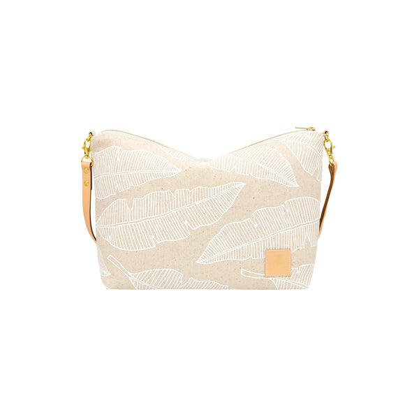 Slouchy Cross Body • Banana Leaf • White Collection