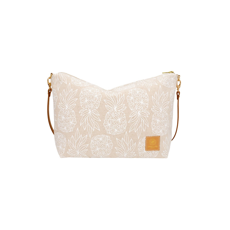 Slouchy Cross Body • Seaflower Pineapple • White Collection