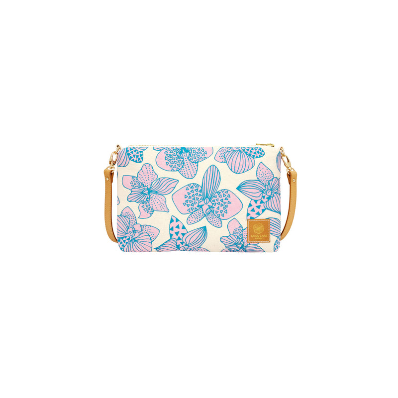 Slim Zipper Cross Body • Orchid • Blue over Lavender