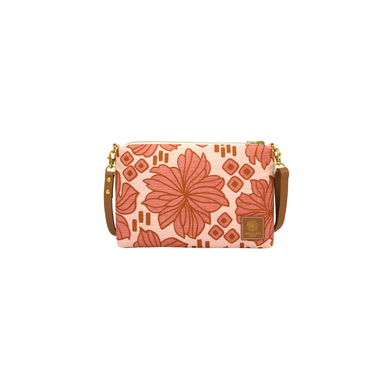 Slim Zipper Cross Body • Retro Blooms