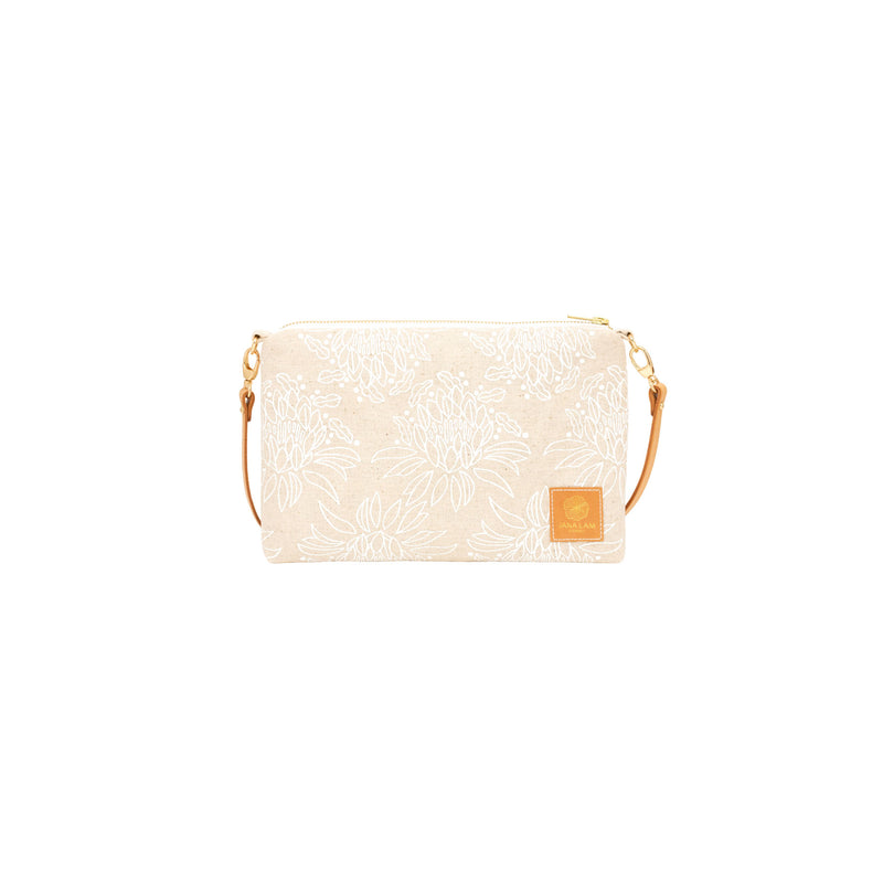 Slim Zipper Cross Body • Night Blooming Cereus • White Collection