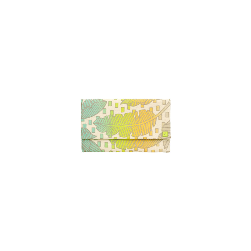 Classic Envelope Clutch • Jungle City • Silver over Aqua, Citron, Tangerine, and Gray Ombre