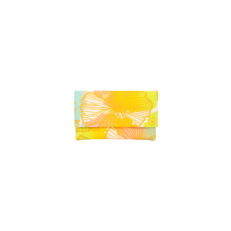 Classic Envelope Clutch • Seaflower • Gold over Offset Rainbow Ombre