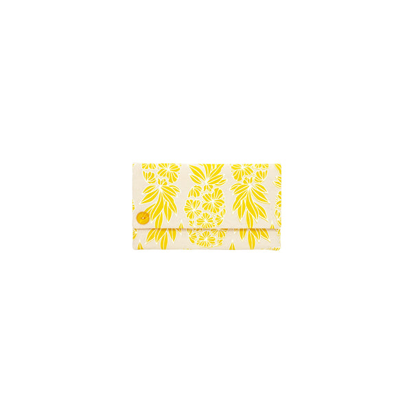 Classic Envelope Clutch • Seaflower Pineapple • White over Yellow