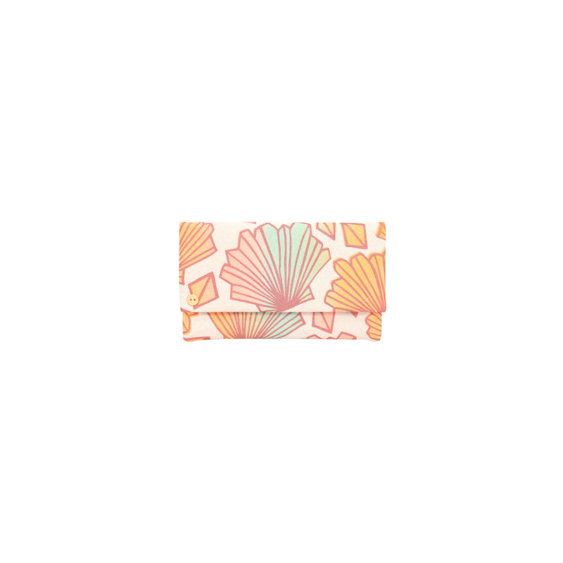 Classic Envelope Clutch • Sunny • Bronze over Mint, Peach, and Tangerine Ombre