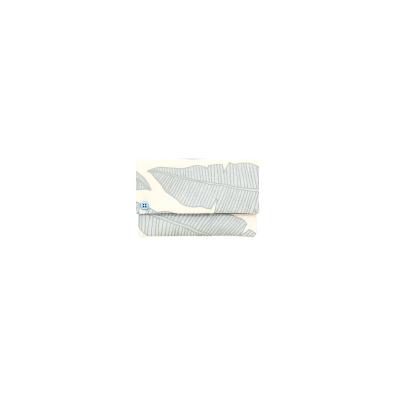 Petite Envelope Clutch • Banana Leaf • Silver over Pale Blue