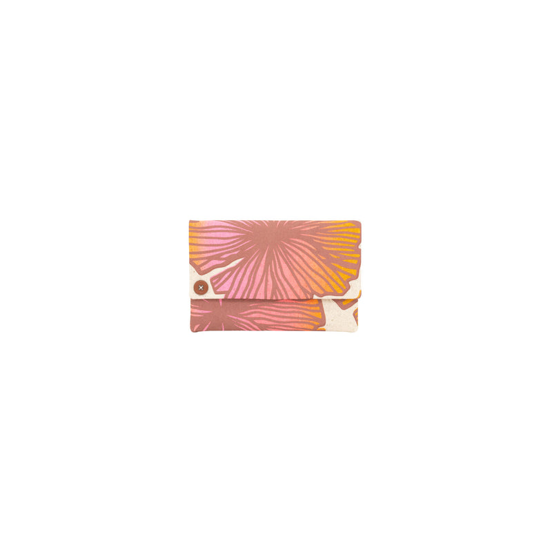 Petite Envelope Clutch • Seaflower • Brown over Pink Coral and Tangerine Ombre