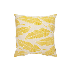 Pillow Cover • Banana Leaf • White over Yellow
