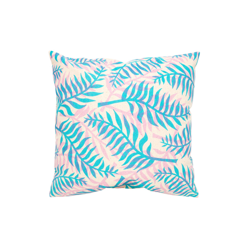 Pillow Cover • Double Palm • Blue over Lavender