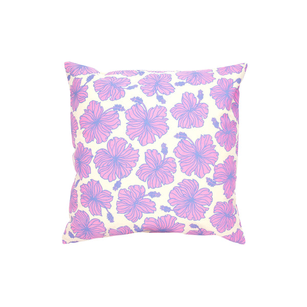Pillow Cover • Hibiscus • Periwinkle over Fuchsia