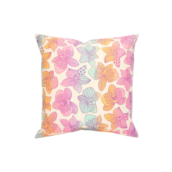 Pillow Cover • Orchid • Metallic Purple over Mint Tangerine and Lavender Ombre