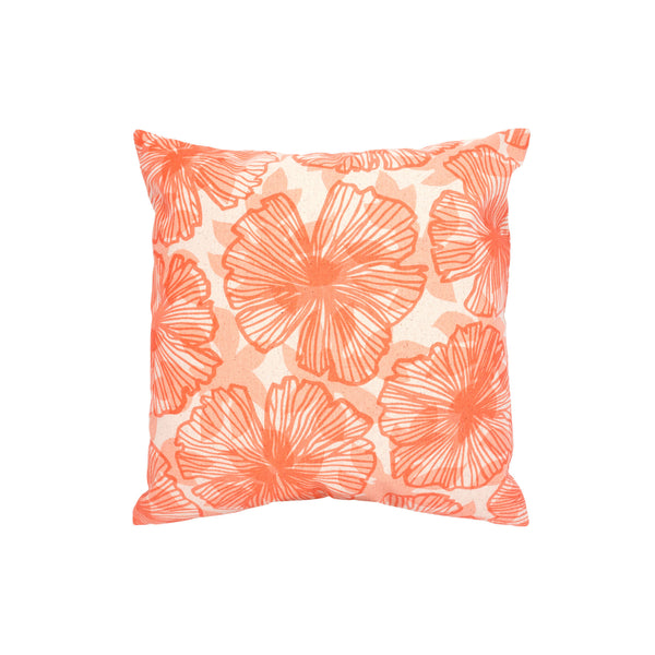 Pillow Cover • Seaflower and Papaya Leaf Shadow • Rust