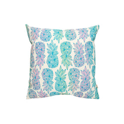 Pillow Cover • Seaflower Pineapple • Blue over Light Rainbow Ombre