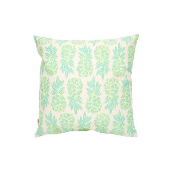 Pillow Cover • Seaflower Pineapple • Lemon Yellow over Aqua
