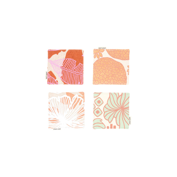 Coaster Set • Sienna Brown and Pastels
