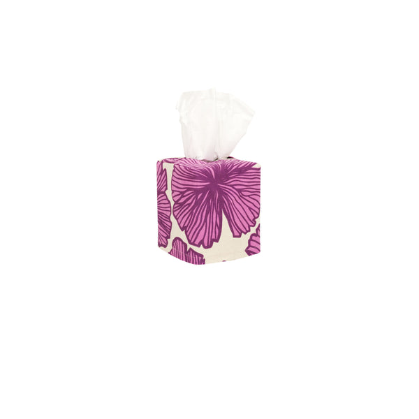 Tissue Box Cover • Seaflower • Eggplant over Fuchsia
