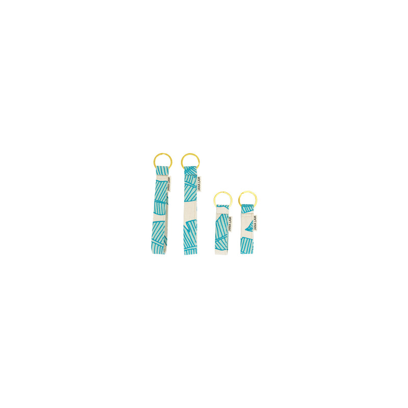Keychains • Banana Leaf • Blue over Mint