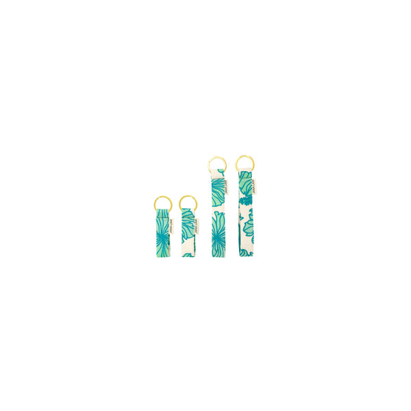 Keychains • Hibiscus • Turquoise over Mint Ombre