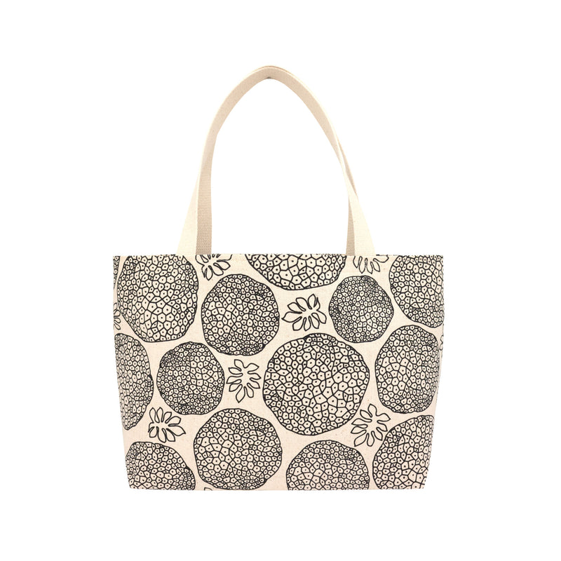 Beach Bag Tote • Ulu • Black on Natural Fabric