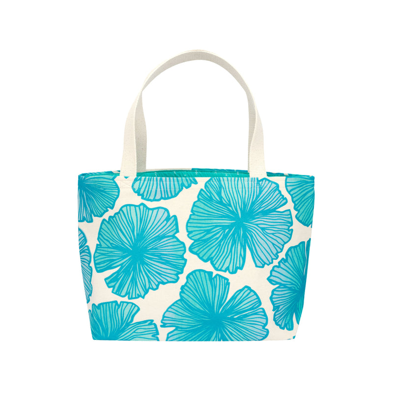 Beach Bag Tote • Seaflower • Teal over Aqua, Mint, and Blue Ombre