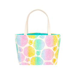 Beach Bag Tote • Ulu • White over Rainbow Ombre