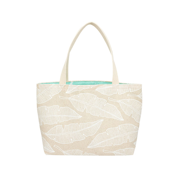Beach Bag Tote • Banana Leaf • White Collection
