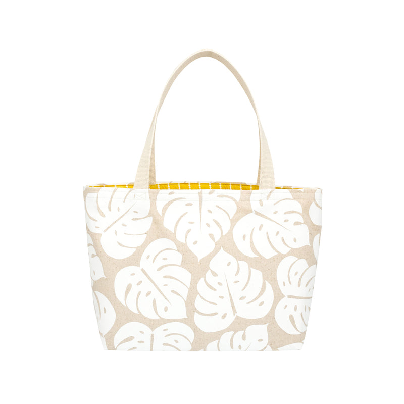 Beach Bag Tote • Monstera Shadow • White Collection