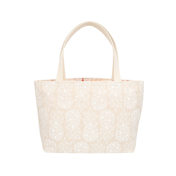 Beach Bag Tote • Seaflower Pineapple • White Collection
