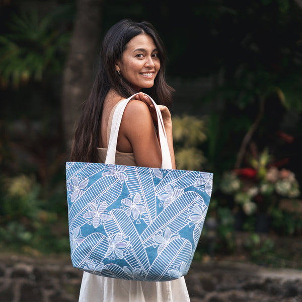 Everything Tote • Plumeria • Denim Collection