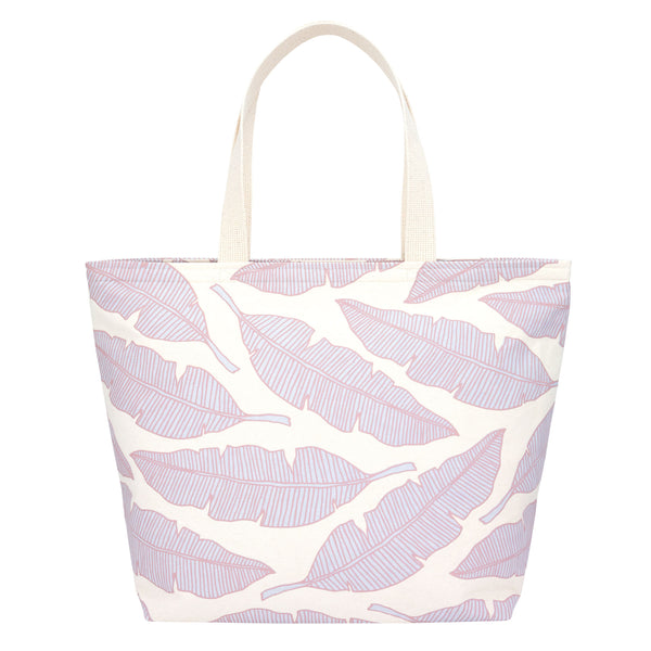 Everything Tote • Banana Leaf • Warm Brown over Lavender