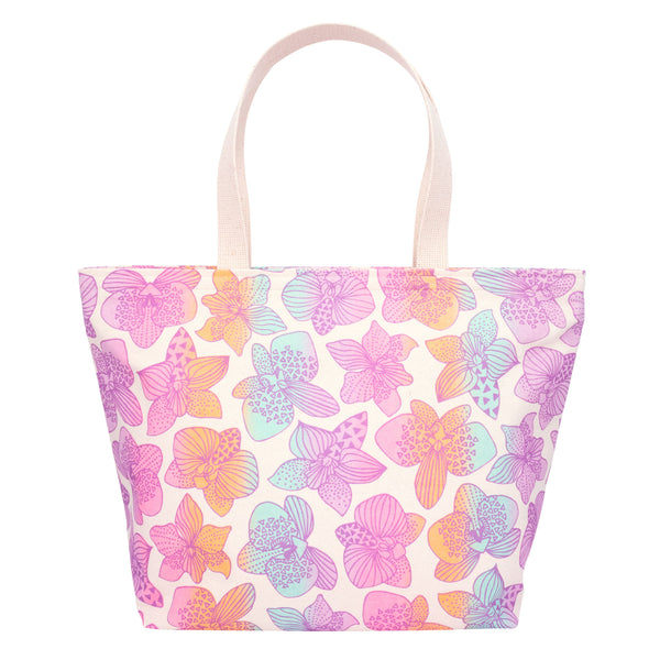 Everything Tote • Orchid • Metallic Mauve over Pink Lavender Aqua and Tangerine Ombre